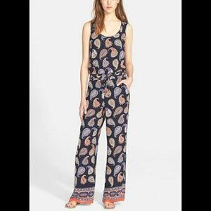 TORY BURCH 100% SILK PAISLEY JUMPSUIT.  SIZE SMALL